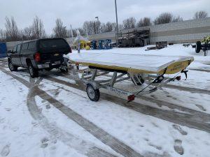 SeaTrac trailered in the winter