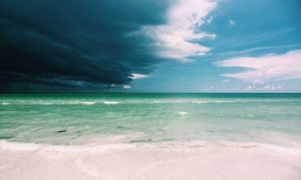 Storm approaching a beach